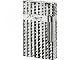 S.T. Dupont Linie 2 versilbert, Carré Diamonds Heads